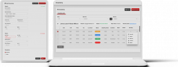 Inventory tracking header computer tablet